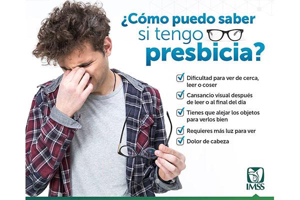 917738eac6 Descripción: Es una afección ocular que provoca la disminución progresiva  de la vista, debido a que el cristalino del ojo pierde su capacidad para  enfocar.