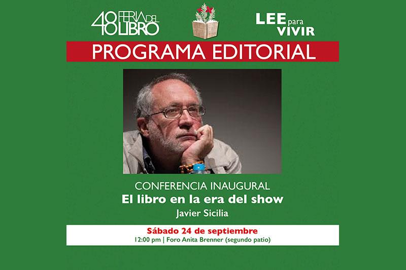 Javier Sicilia en la 48 Feria del Libro