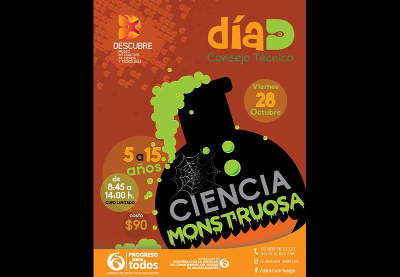 """Día """"D"""" Ciencia Monstruosa en Museo Descubre"""
