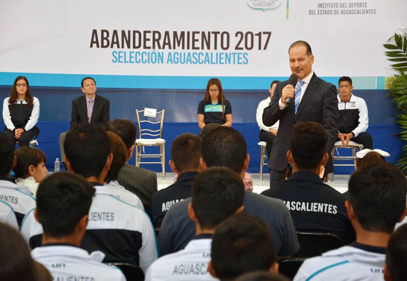 Abandera MOS a Deportistas que Participarán en la ON 2017