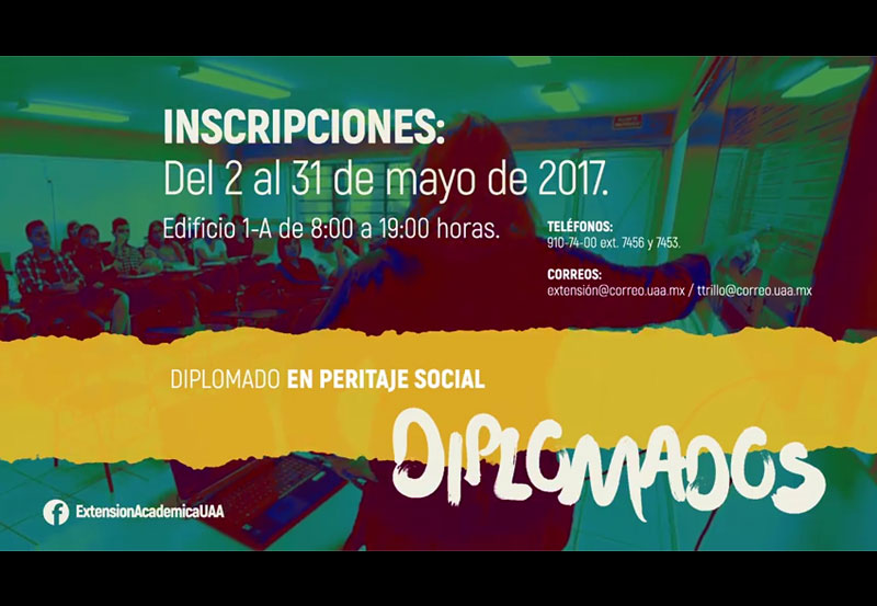 UAA Realizará Diplomado en Línea de Peritaje Social