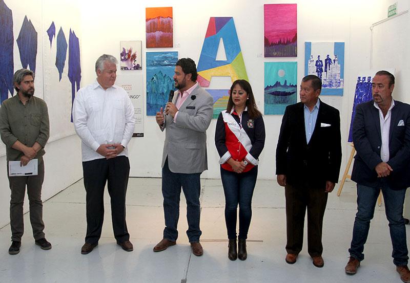 Pumapungo Exposición Pictórica en el Stand de Presidencia Municipal en la FNSM