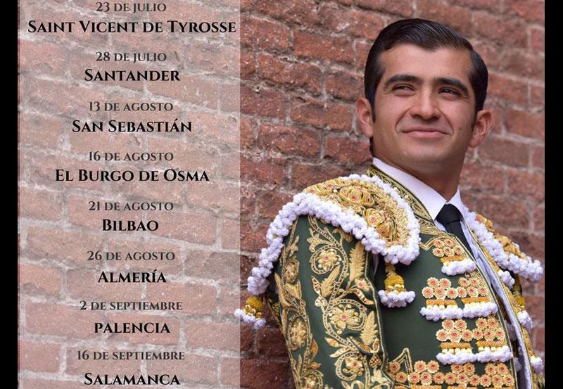 El Mejor Torero de México Tiene Ocho Fechas más en Europa