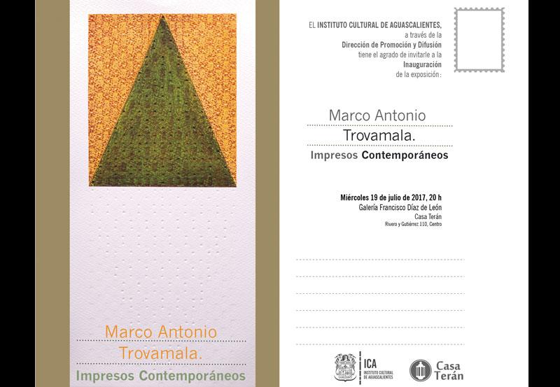 """Casa Terán Inaugura """"Impresos Contemporáneos"""" de Marco Antonio Trovamala"""