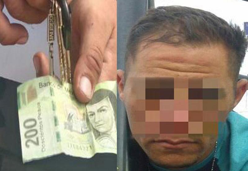 Detenido con Llaves Trabajadas y un Billete Apócrifo