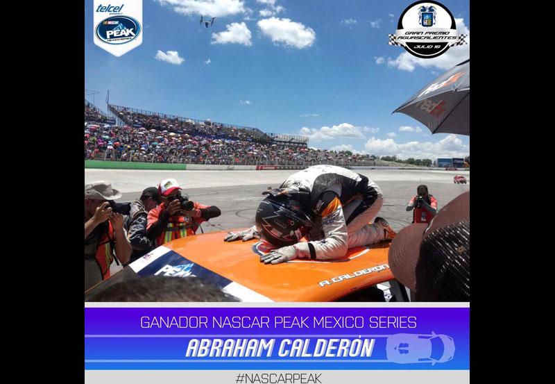 Abraham Calderón Gana la Carrera NASCAR México en el Óvalo de Aguascalientes
