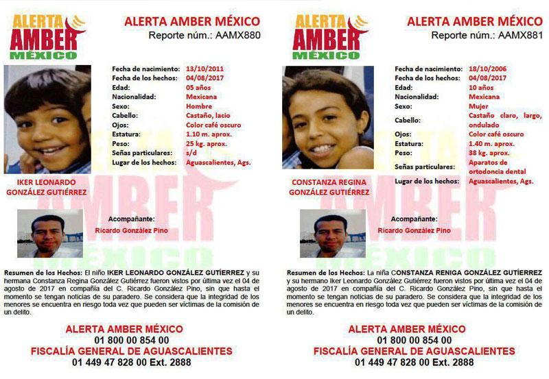 Alerta Amber por la Desaparición de dos Niños en Aguascalientes