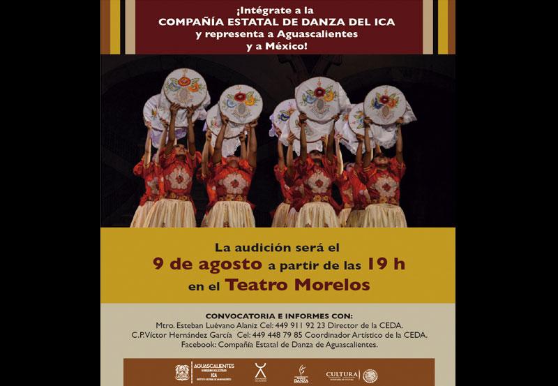 ICA Busca Integrantes Para la Compañía Estatal de Danza