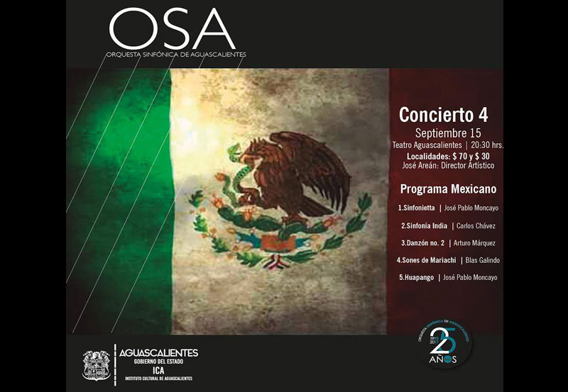 OSA Interpretará Repertorio Mexicano