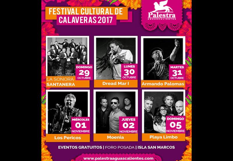 Cartel del Festival de las Calaveras 2017