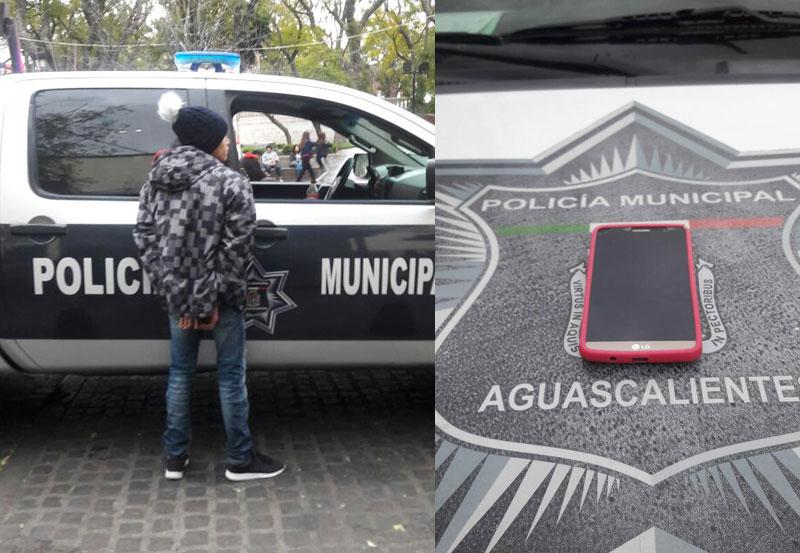 Detienen a Adolescente Ladrón que Robó Celular