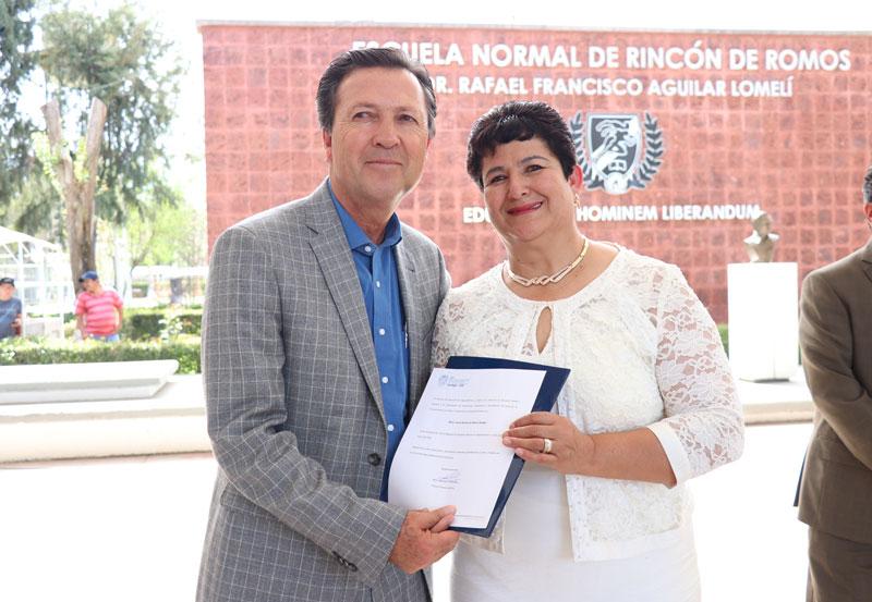Nombran Nueva Directora de la Escuela Normal de Rincón de Romos