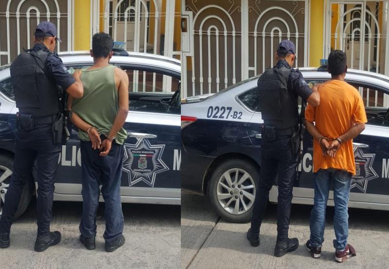 Hermanos Fueron Detenidos Desmantelando una Camioneta en el Morelos