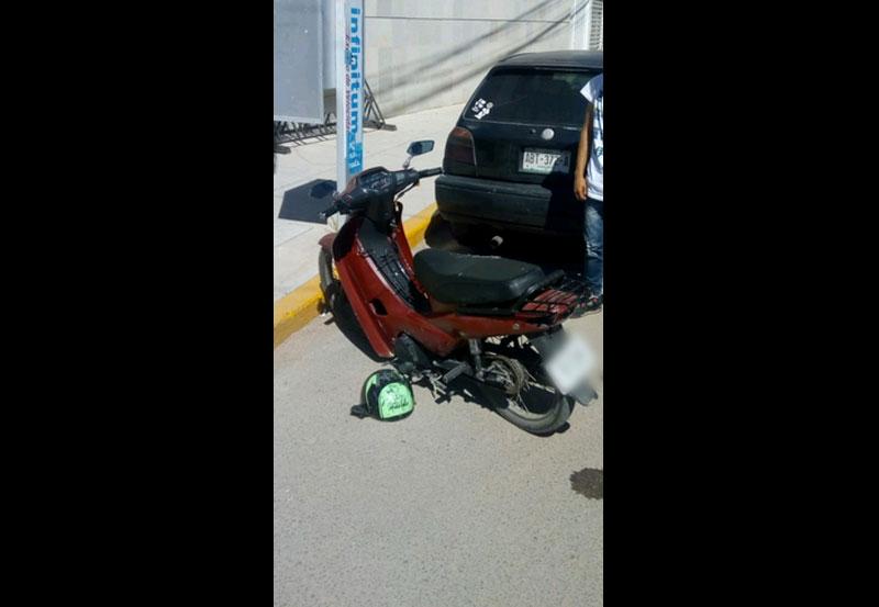 Detienen a Menor de Edad en Motocicleta con Reporte de Robo