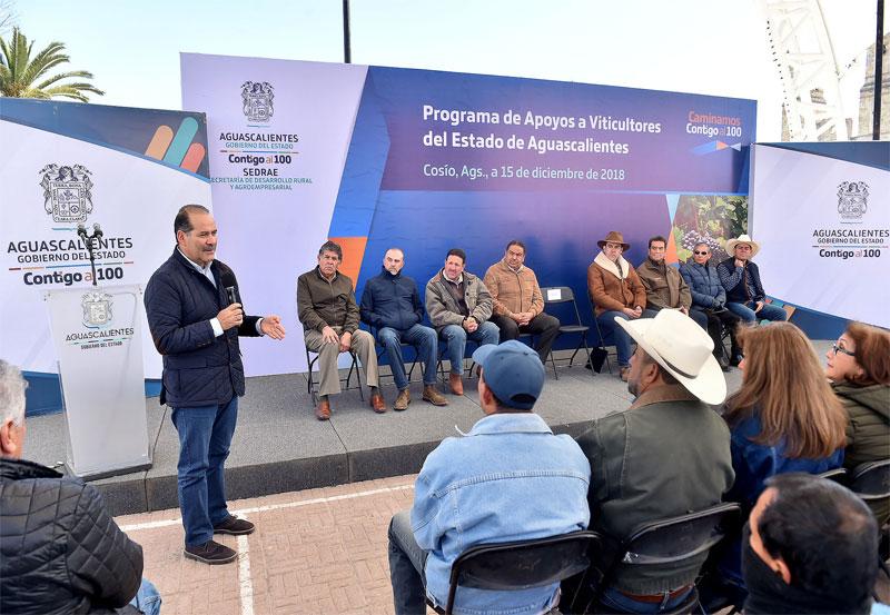MOS Entrega Apoyos a Viticultores por más de Nueve MDP