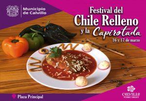 Calvillo Pueblo Mágico Invita al Festival del Chile Relleno y la Capirotada 16 y 17 de Marzo