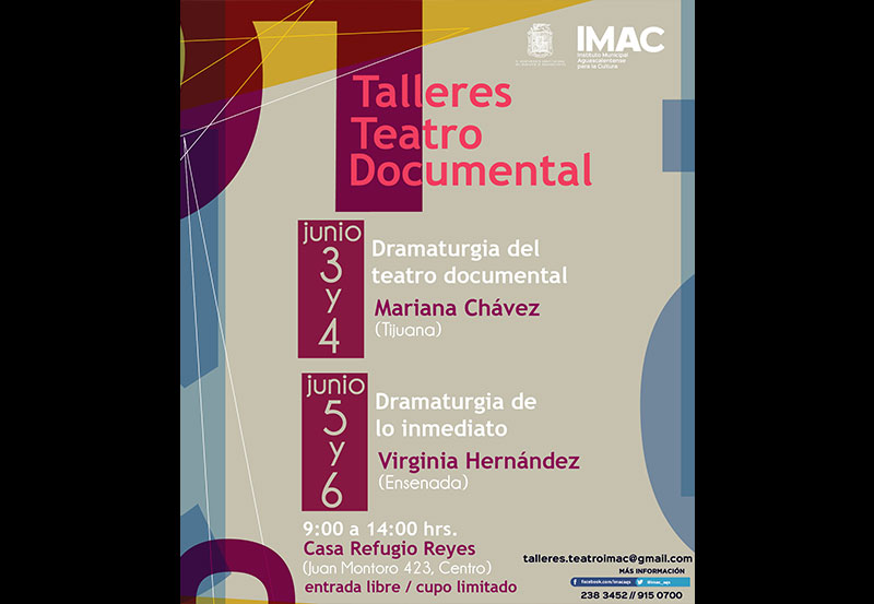 IMAC Invita a la Ciudadanía a Participar en los Talleres de Teatro y Realidad