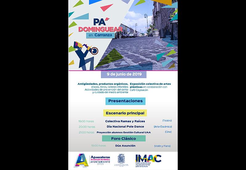 Invita Municipio a las Actividades Culturales en la Calle Carranza