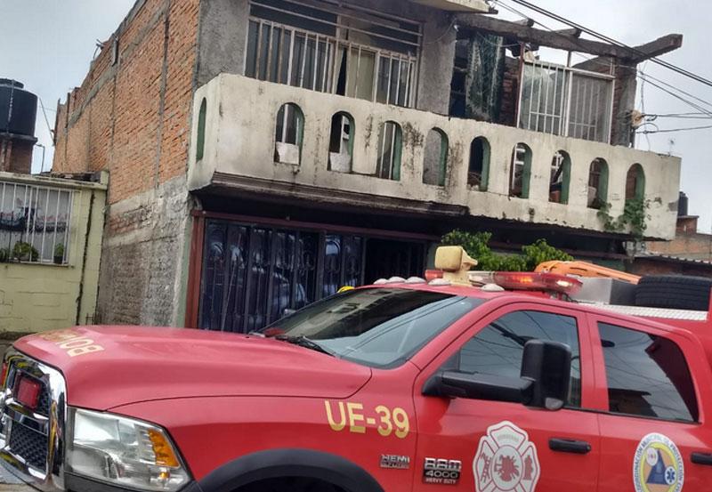 Incendio en Casa del Fraccionamiento Lomas del Chapulín, sin Lesionados