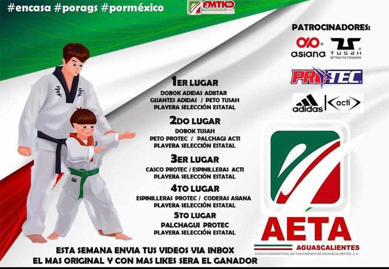 AETA Convoca a Entrenar Desde sus Casas a Taekwondoines Hidrocalidos