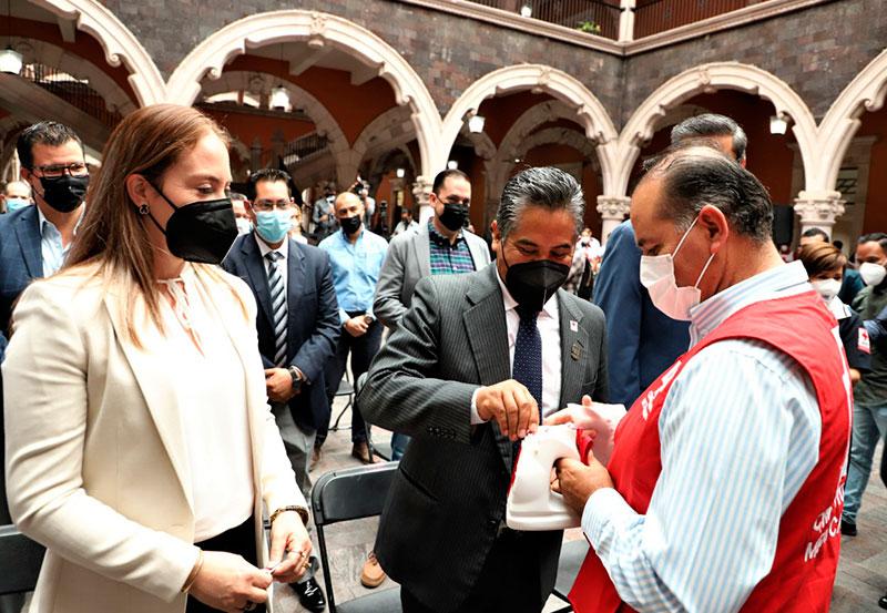 Alcalde de JM Participa en la Coleta Anual de la Cruz Roja Mexicana