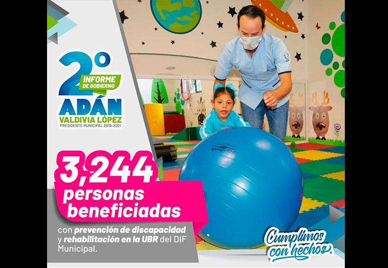 3,244 Personas se Beneficiaron con los Servicios de Prevención de Discapacidades y Rehabilitación