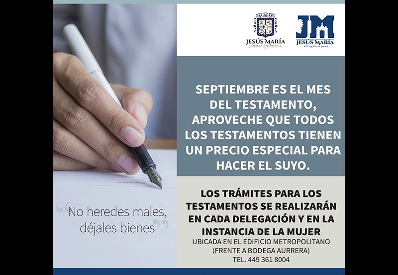 Campaña Para Tramitar Testamentos ya Está Vigente en JM