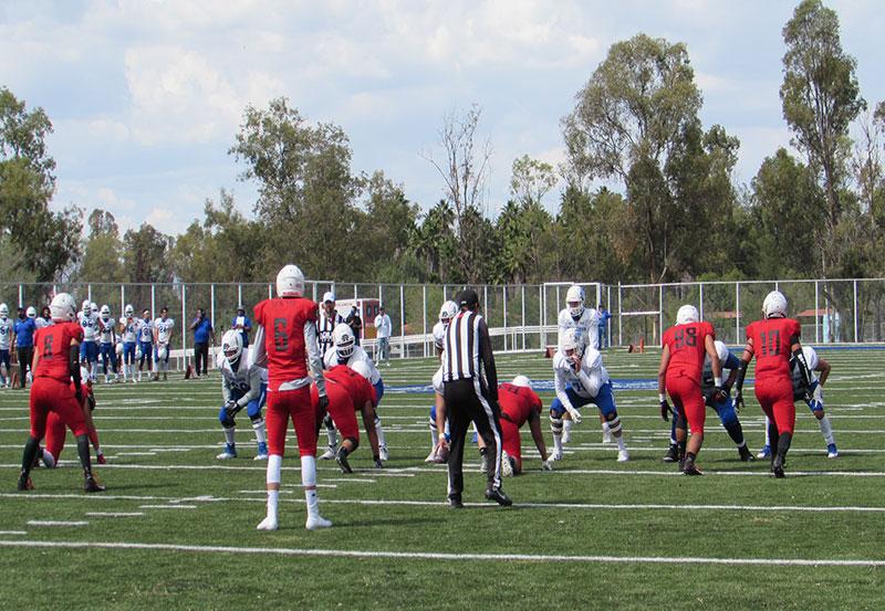 Exitoso Encuentro de Fútbol Americano de Liga Mayor en el Nuevo Campo de Fútbol Americano del Parque Rodolfo Landeros.